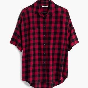 Madewell Short Sleeve Flannel NWT